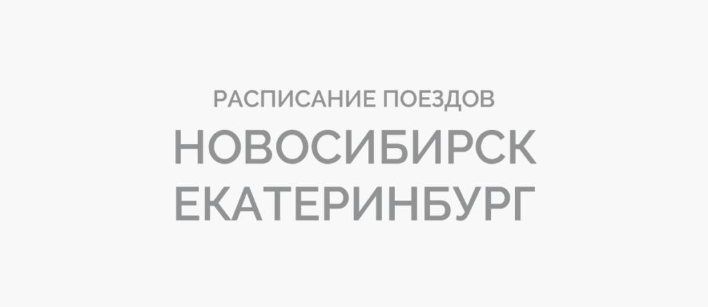 Поезд Новосибирск - Екатеринбург
