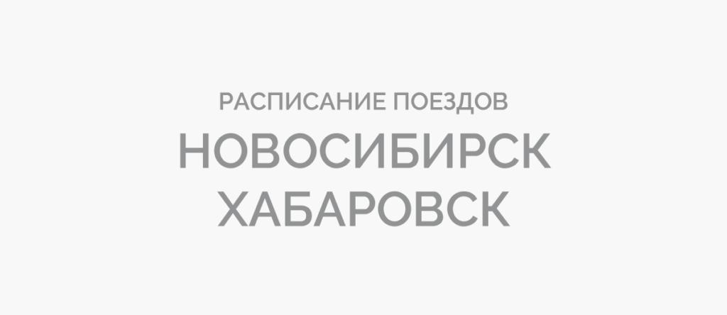 Поезд Новосибирск - Хабаровск
