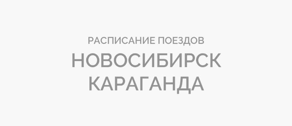 Поезд Новосибирск - Караганда