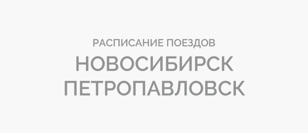 Поезд Новосибирск - Петропавловск