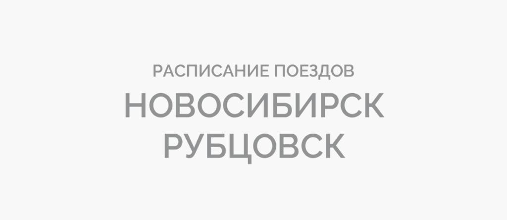 Поезд Новосибирск - Рубцовск